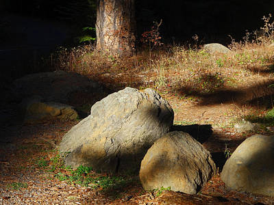 Photograph - Rocks And Shadows by Jacqueline  DiAnne Wasson