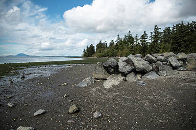 Photograph - Rocks And Shore 1 by Tom Cochran