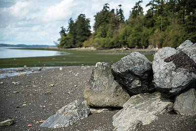 Photograph - Rocks And Shore 3 by Tom Cochran