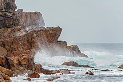 Photograph - Rocks And The Ocean Waves Near Cape Point In  South Africa by Marek Poplawski