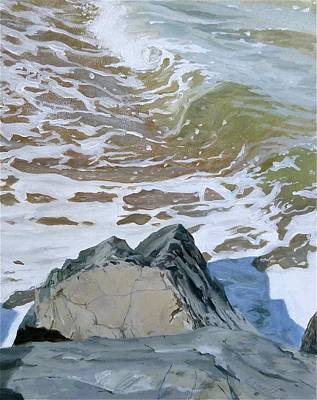 Painting - Rocks And The Sea by Ellen Paull