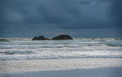 Photograph - Rocks And Waves At Cannon Beach by Anthony Doudt