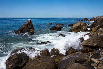 Valentines Day - Rocks and Waves Point Mugu California by Danny Goen