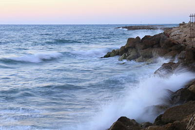 Photograph - Rocks And Waves. by Shlomo Zangilevitch