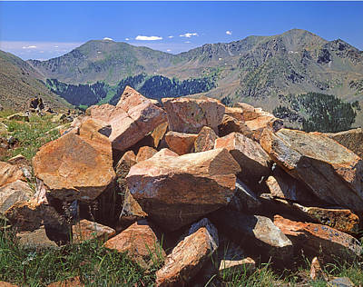 Photograph - 214258-rocks And Wheeler Peak  by Ed  Cooper Photography
