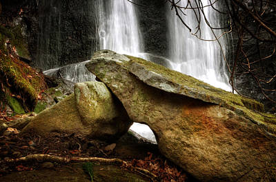 Rock Photograph - Rocks At A Waterfall by Greg Mimbs