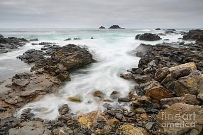 Rocks At Cape Cornwall  Art Print