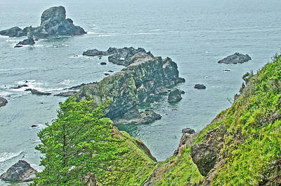 Photograph - Rocks At Ecola Point In Ecola State Park, Oregon by Ruth Hager