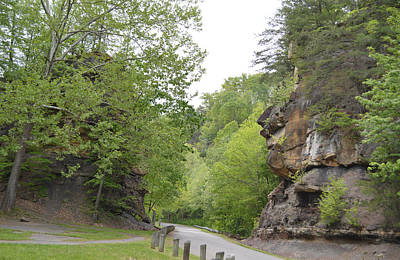Photograph - Rocks At Falls Mill Park - West Virginia by rd Erickson