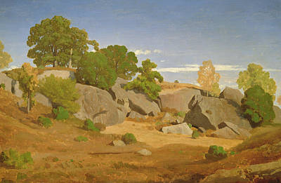Rocks At Fontainebleau Art Print