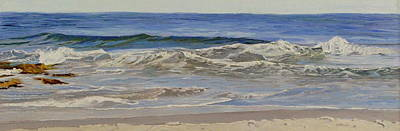 Painting - Rocks At High Tide by Lea Novak