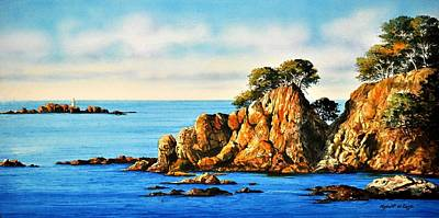 Painting - Rocks At Palafrugel,calella, Spain by Robert W Cook