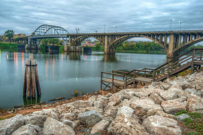 Photograph - Rocks By The River - Little Rock Arkansas by Gregory Ballos