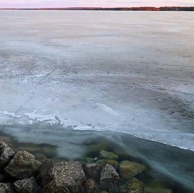Digital Art - Rocks Ice Clouds Two by Lyle Crump
