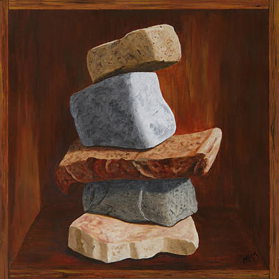 Painting - Rocks In A Box by Garry McMichael