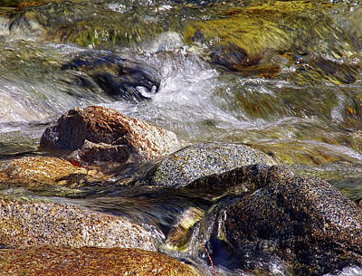 Photograph - Rocks In A Stream 2a by Sharon Talson