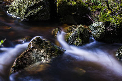 Photograph - Rocks In A Stream by Alex Saunders
