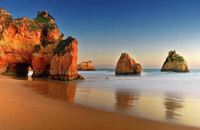 Algarve Wall Art - Photograph - Rocks In Sea by Juampiter