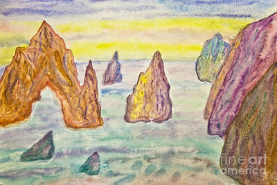 Painting - Rocks In Sea, Painting by Irina Afonskaya