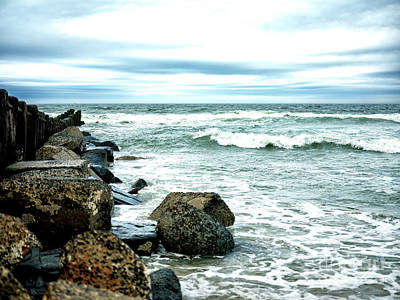 Photograph - Rocks In The Ocean At Long Beach Island by John Rizzuto