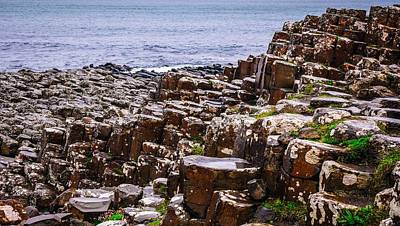 Photograph - Rocks In The Rain - Giants Causeway by Lexa Harpell