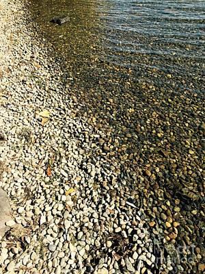 Photograph - Rocks In Water by LeLa Becker