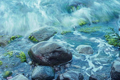 Photograph - Rocks In Water by Richard Nickson