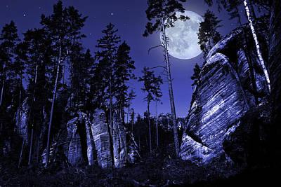 Limestone Digital Art - Rocks by Jaroslaw Grudzinski