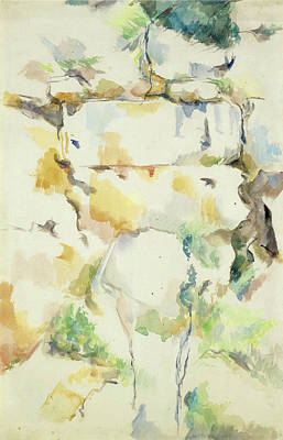 Rocks Near The Caves Above The Chateau Noir. Rochers Bibemus Art Print