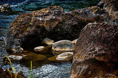 Photograph - Rocks Nestling by Christopher Holmes