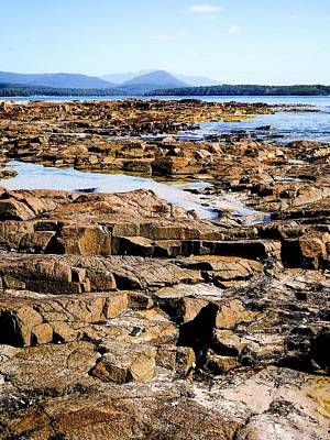 Photograph - Rocks Of Fishers Point, Tasmania by Lexa Harpell