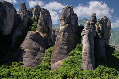 Photograph - Rocks Of Meteora by Jaroslaw Blaminsky