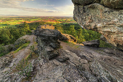 Photograph - Rocks Of Sharon Overlook by Mark Kiver