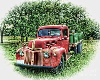 Rocks Old Truck Art Print by Pamela Baker