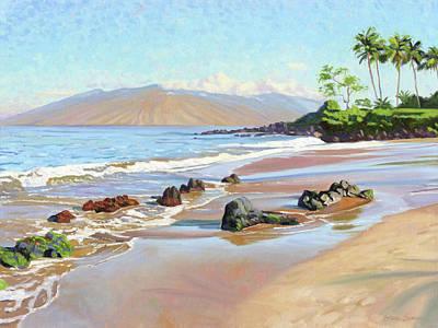 Painting - Rocks On Polo Beach by Steve Simon