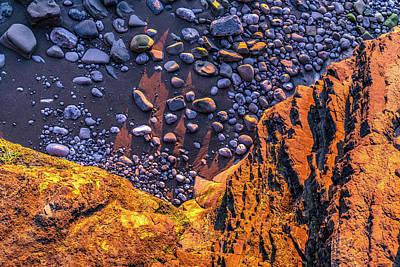 Photograph - Rocks On Sand At San Juan De Gaztelugatxe by Judith Barath