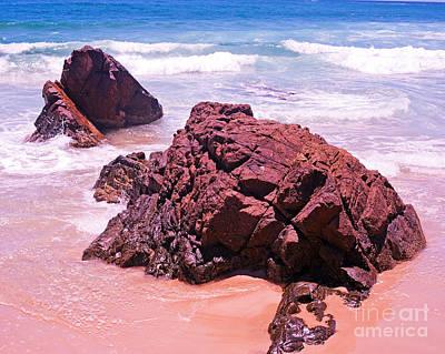Rocks On The Beach Byron Bay Print Image Original