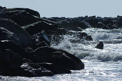 Rocks On The Jetti At Cocoa Beach Art Print