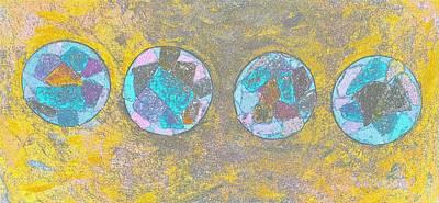 Polymer Digital Art - Rocks On Water by Karen Matthews