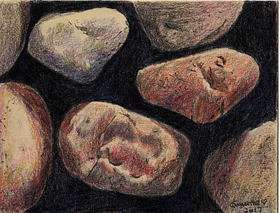 Drawing - Rocks by Quwatha Valentine