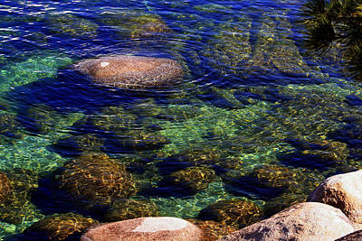 Photograph - Rocks Ripples And Reflections by Lynn Bawden