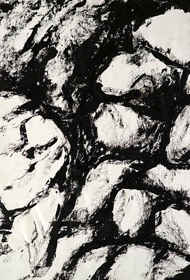 Rocks Art Print by Rob Woods