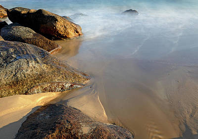 Photograph - Rocks, Sand And Water by Nicholas Blackwell