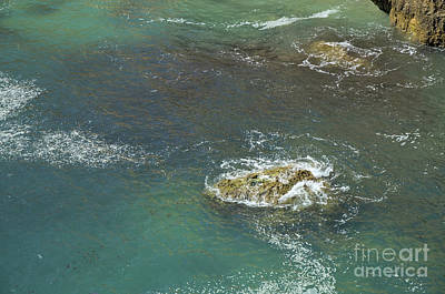 Rocks Touched By The Sea Print by Angelo DeVal