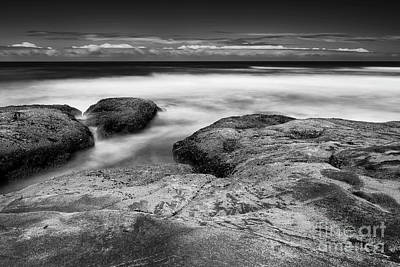 Rocks Towards The Ocean Art Print
