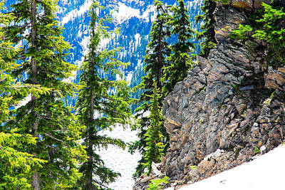 Photograph - Rocks, Trees And Snow by Storm Smith
