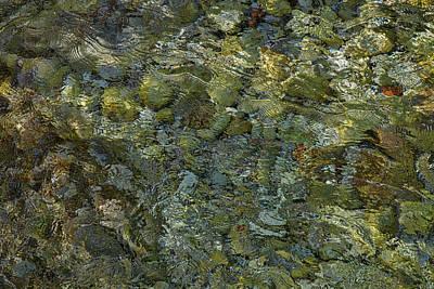 Photograph - Rocks Under The Soca River #2 - Slovenia by Stuart Litoff