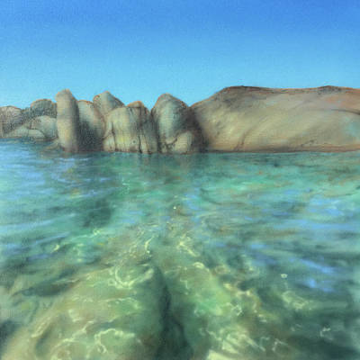 Painting - Rocks Under Water by Kevin Gallagher