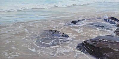 Painting - Rocks Under Water by Lea Novak
