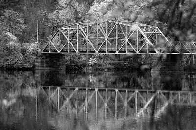Photograph - Rocks Village Bridge In Black And White by Nancy Landry